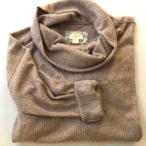 Anthropologie Maeve Fuzzy Cowl Neck Sweater Top